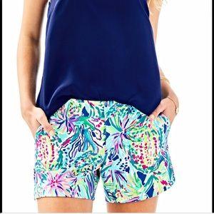 Lilly Pulitzer Callahan knit shorts 6 in junipero